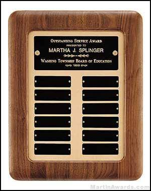 Plaque - Perpetual Plaques with Gold Metal Back