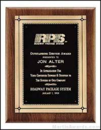 Plaque - Solid American Walnut Plaque w/Phoenix Frame Castings