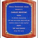 Plaque – Solid American Walnut Plaque with Linen Textured Plates 1