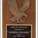 Plaque – American Walnut Plaques with Antique Bronze Cast Eagle 1
