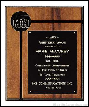 Plaque – American Walnut Plaques with Activity Insert 1
