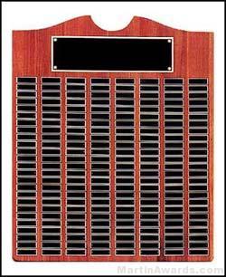 Plaque - Perpetual Plaque w/Black Brass Awards Achievement Recognition