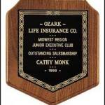 Plaque – American Walnut Camelot Style Plaques 1