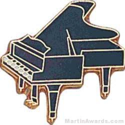 "3/4"" Piano Lapel Pin"