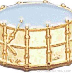"9/16"" Drum Lapel Pin"