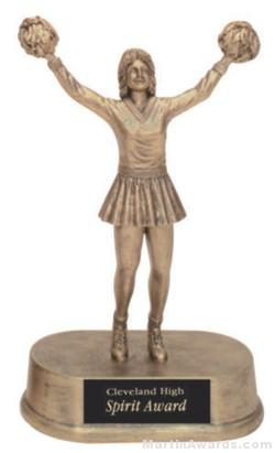 Cheerleader Gold Resin Trophy 1