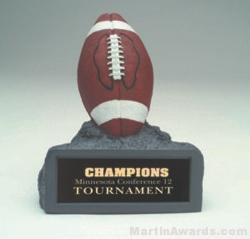 Brown Football On Base Gold Resin Trophy