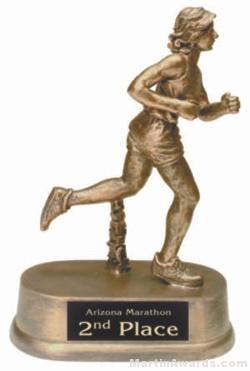 Female Track Gold Resin Trophies