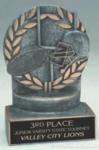 Football Wreath Resin Trophy