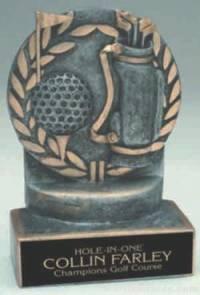 Golf Wreath Resin Trophy
