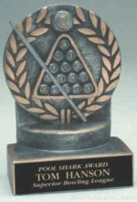 8 Ball Wreath Resin Trophy