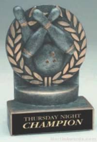 Bowling Wreath Resin Trophy