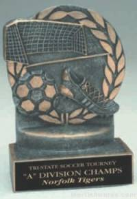 Soccer Wreath Resin Trophy