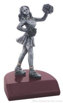 Cheerleader Silver Resin Trophy 1