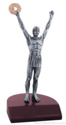 Male Victory Silver Resin Trophies