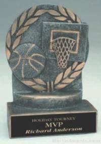 Basketball Wreath Resin Trophy