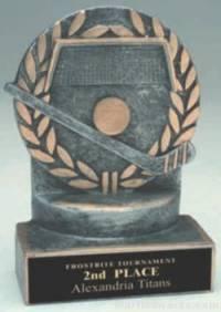Hockey Wreath Resin Trophy