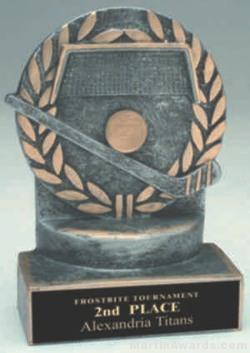 Hockey Wreath Resin Trophy 1