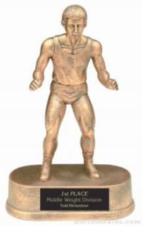 Wrestler Gold Resin Trophy