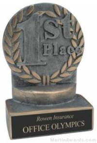 1st Place Wreath Resin Trophy