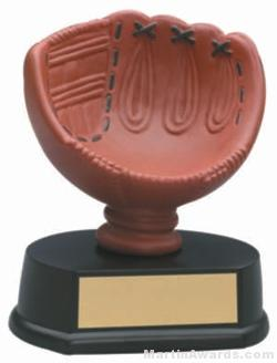 (Holds Softball) Softball Glove Gold Resin Trophy