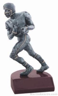 Football Silver Resin Trophy