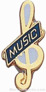 "3/4"" Enameled Music Pin"