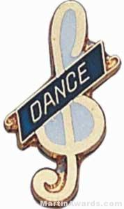 "3/4"" Enameled Dance Pin"