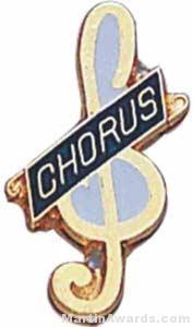 3/4″ Enameled Chorus Pin 1