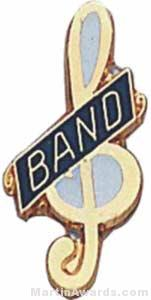 3/4″ Enameled Band Music Pin 1