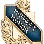 3/8″ Highest Honor School Award Pins 1