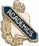 """3/8"""" Academics Scholastic Award Pin"""