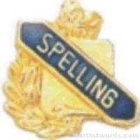 "3/8"" Spelling School Award Pins"