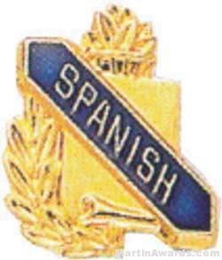 "3/8"" Spanish Academic Award Pins"