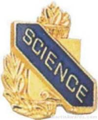 "3/8"" Science School Award Pins"
