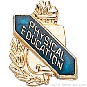"3/8"" Physical Education School Award Pins"