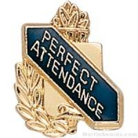 "3/8"" Perfect Attendance School Award Pins"