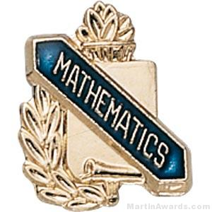 3/8″ Mathematics Award Pins 1