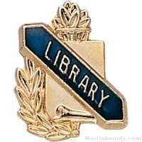 "3/8"" Library School Award Pins"