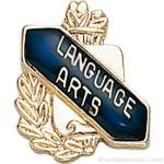 3/8″ Language Art School Award Pins 1