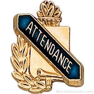 "3/8"" Attendance School Pins"