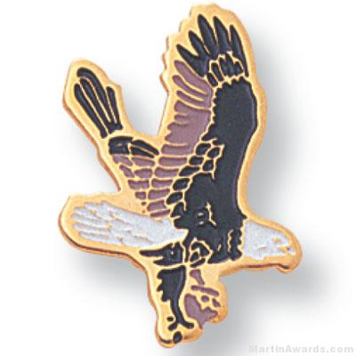 13/16″ Falcon Mascot Lapel Pin 1