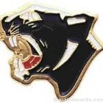7/8″ Enameled Panther Mascot Pin 1