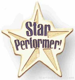 Star Performer Soft Enamel Lapel Pin 1