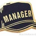 1″ Etched Manager Chenille Letter Pin 1