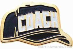 "1"" Etched Soft Enamel Coach Chenille Letter Pin"