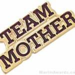 13/16″ Etched Soft Enamel Team Mother Chenille Letter Pin 1