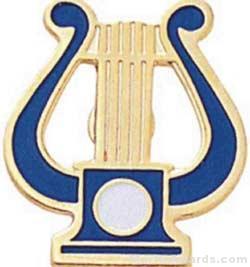 """5/8"""" Music Lyre Pin"""