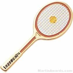 "1 1/2"" Etched Soft Enamel Tennis Chenille Letter Pin"