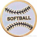 3/4″ Etched Soft Enamel Softball Chenille Letter Pin 1